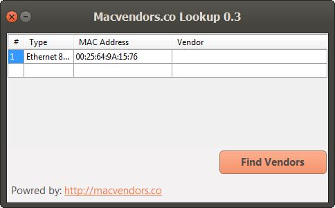 mac address lookup vendor list